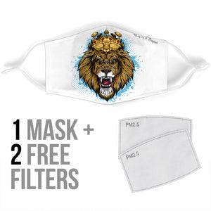 Angry Lion King of the Streets Protection Face Mask