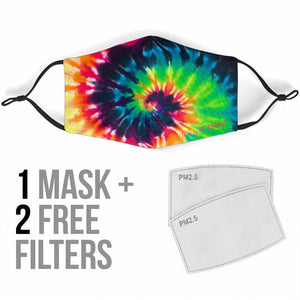 Tie Dye Rainbow Colors Protection Face Mask