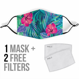 Tropical Flowers Vibes 2 Protection Face Mask