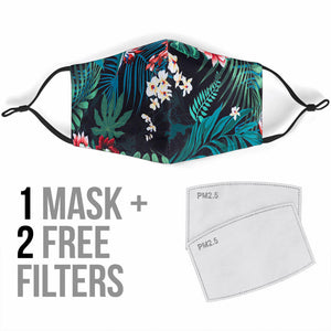 Designer Tropical Style Protection Face Mask