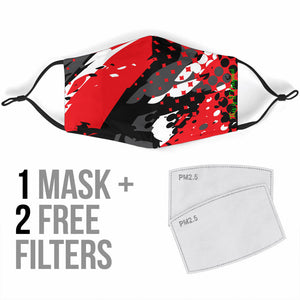 Exclusive Racing Style Black & Red Design Protection Face Mask