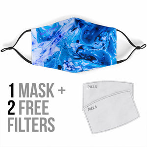 Luxurious Blue Marble Design Protection Face Mask