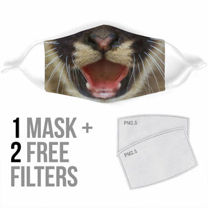 Lovely Mountain Lion Face Protection Face Mask