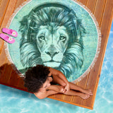Lion Spirit Beach Blanket