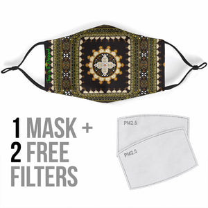 Exclusive Ornamental Mandala Design Four Protection Face Mask