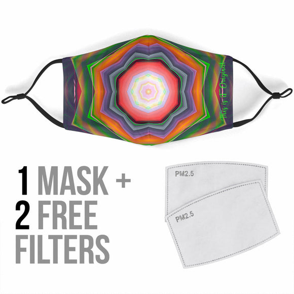 Luxurious Colorful Kaleidoscope Design One Protection Face Mask