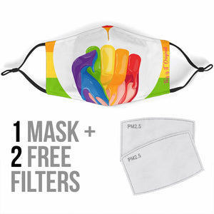 LGBTQ+ Rainbow Human Rights Protection Face Mask
