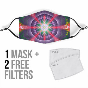 Luxurious Colorful Kaleidoscope Design Two Protection Face Mask