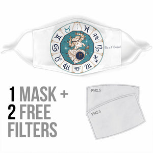 Special Zodiac Sign Design Taurus Protection Face Mask