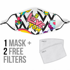 "How to say ""I Love You"" With Style Protection Face Mask"