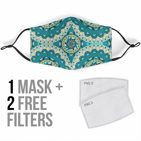 Mandala Design Good Vibrations Two Protection Face Mask