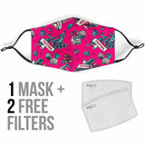 Tattoo Studio Design in Pink Protection Face Mask