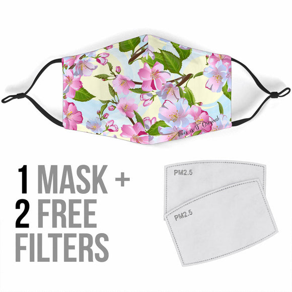 Pink Floral Art Design Protection Face Mask