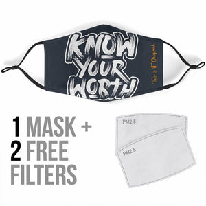 Know Your Worth Protection Face Mask
