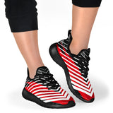 Racing Style Red & White Stripes Vibes Mesh Knit Sneakers