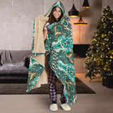 Ornamental Magical Green Dream Premium Hooded Blanket