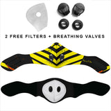Racing Style Black & Yellow Stripes One Premium Protection Face Mask
