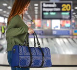 Luxury Royal Blue Bandana Style Travel Bag
