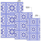 Luxury Traditional White & Blue Ornaments Design One Area Rug