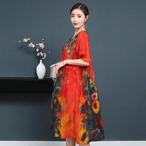 Luxury Genuine Silk Soft Dress