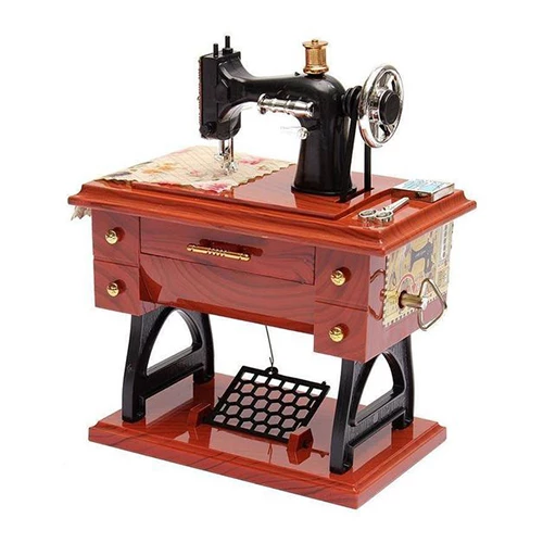 Buy Two Free Shipping-Mini Sewing Machine Music Box(Great Gifts)