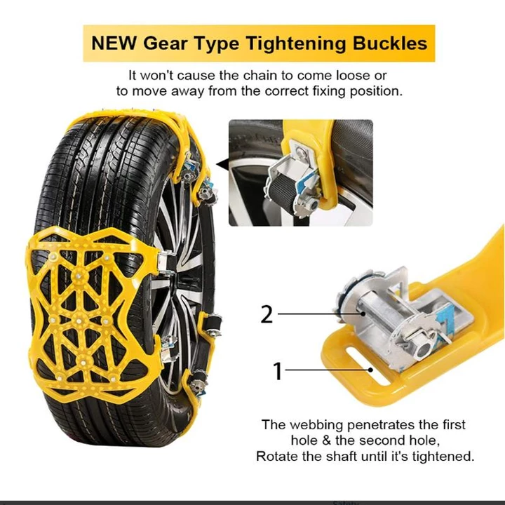 (Hot Sales 50% Off)Car tire snow chains