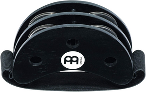 Meinl Foot Tambourine with Stainless Steel Jingles-NOT MADE IN CHINA-Accompaniment for Cajon Gigs, 2-YEAR WARRANTY, (FJS2S-BK)