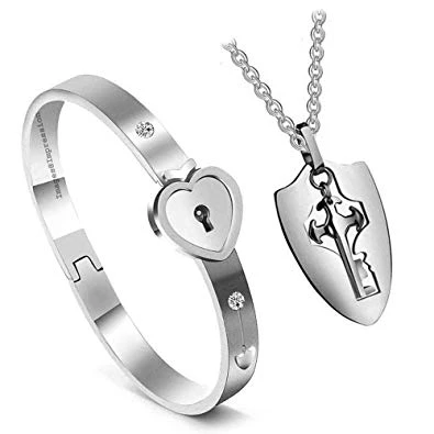 (Buy 2, Get 1 FREE)Lock Your Heart Couple Bracelet[Today Only]