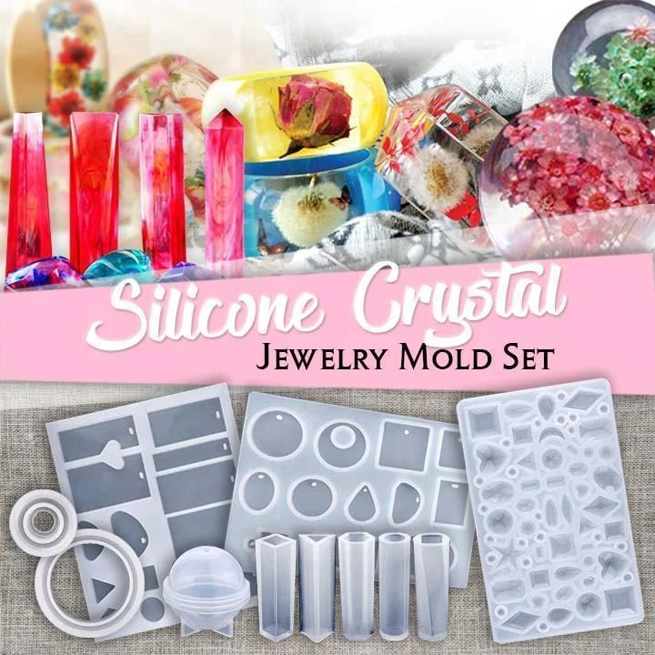 DIY Crystal Glue Jewelry Mold 83 Pcs Set (69 reviews)