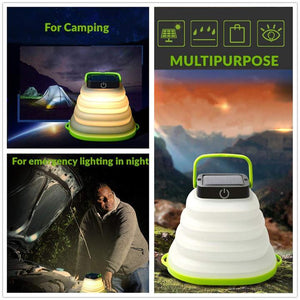 Solar Folding Portable LED Inflatable Camping Light(Buy two free shipping)
