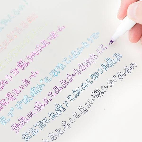 Gift Card Writing & Drawing Double Line Outline Pen