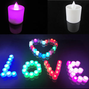 24 PCS Flameless Color-changing LED Tealight Candles