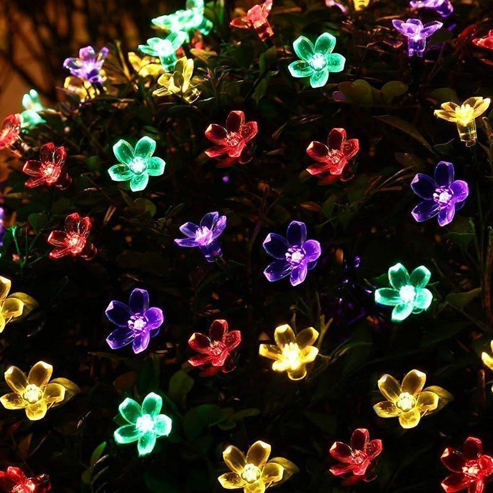 7 meters 50 lights solar cherry lights