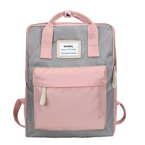Nylon fashion backpack ladies backpack leisure travel bag