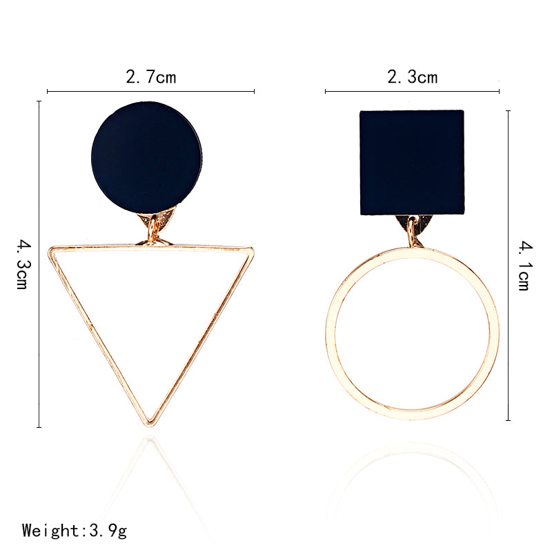 New fashion geometric women's fine earrings
