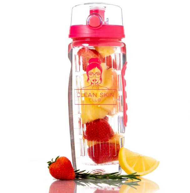 32OZ FRUIT INFUSER WATER BOTTLES WITH TIME MARKING