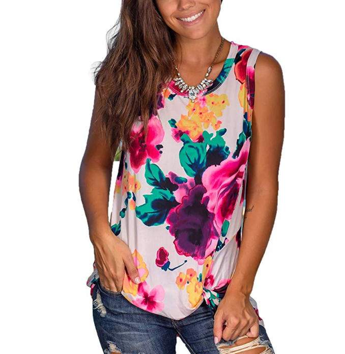 Womens Tank Tops Loose Fit Sleeveless Shirt Casual