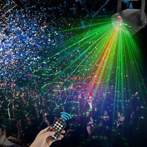 (Early Christmas 50%OFF) RGB DJ Disco Stage Laser Light Sound Activated Led Projector Party Lights