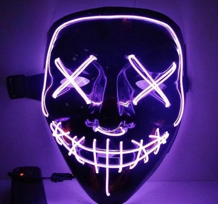 【Big Sale Today】 Halloween-Party & Rave LED Devil mask