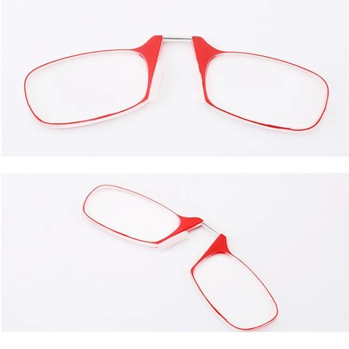 Key Chain Clip Nose Reading Glasses