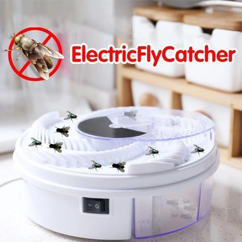 Electric Fly Trap Device - Automatic Catcher