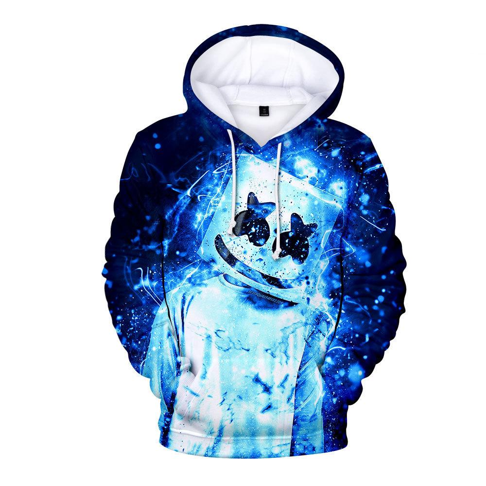 Marshmallow DJ 3D Print autumn Hoodies——Free Shipping!