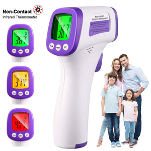 Non-Contact Digital Infrared Forehead Thermometer, No Touch Thermometers for Adults and Kids with LCD Screen,Alarm,MAX/AVG/MIN Value Functions, 1S Quick Measurement-Q