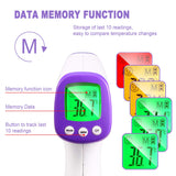 Non-Contact Infrared Thermometer, TECCPO Medical Digital Thermometer, CE Medical Certification, Fever Alert, Three-Color LCD Display, Forehead Thermometer for Baby, Kids and Adult -MT