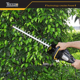 TECCPO Hedge Trimmer, 500W Electric Hedge Trimmer, Blade Length 510mm, 20mm Tooth Opening, Double Action Blade, Low Vibration and Low Noise, Integrated Blade Tip Protector - TAHT02G