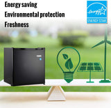 Mini Fridge, TECCPO 1.7 Cu.Ft. Dorm Refrigerator, Energy Star Compact Refrigerator, 6 Adjustable Thermostat Control, One-touch Easy Defrost, 37 dB Quiet Small Refrigerator for Bedroom, Dorm, Office - Black