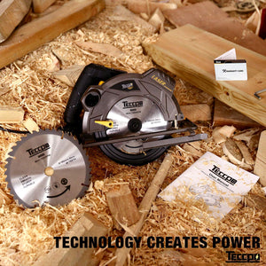 "TECCPO 7-1/4"" 5500 RPM Saw with Laser Guide, 24T&40T Circular Saw Blade - TACS01P"