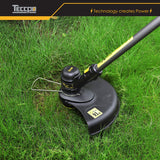 TECCPO 18V 2.0Ah Cordless Grass Trimmer, Automatic Line Releasing System, 30mm Cutting Diameter, 90° Adjustable Head, Two handles, Edge Cutting Function, Distance Protection - TDLT02G