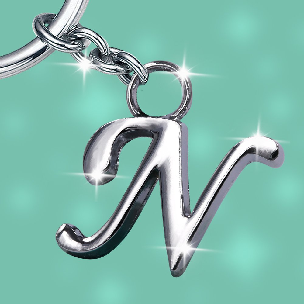Stylish Letter N Simple Alphabet Key Ring Creative Packaging Design Box  Z-334