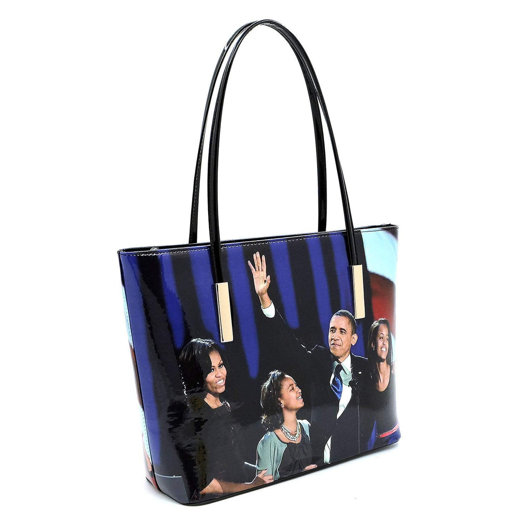 0171c746d Glossy magazine cover collage Michelle Obama printed two stand alone tote  bags and one matching wallet